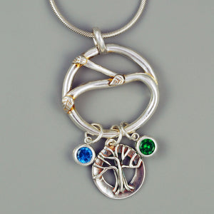 CIRCLE OF LIFE CHARM HOLDER PENDANT - TevaJane
