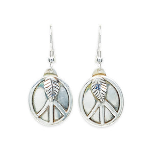 Peace Sign Earrings Sterling Silver by TevaJane