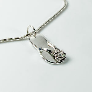 Flip flop charm on chain