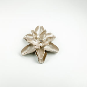 LEATHER FLOWER HAIR CLIP - TevaJane