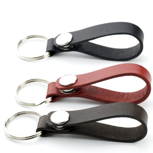 LEATHER KEY RING WITH SNAP - TevaJane