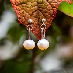 Pearl Earrings Post and wire