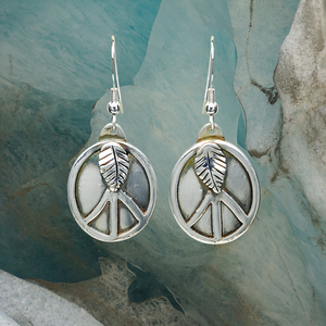 LEAF PEACE EARRINGS - TevaJane