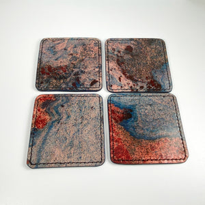 Handmade Leather Coasters Unique