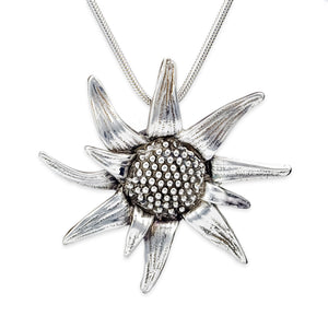 Sterling Silver Flower Pendant by TevaJane