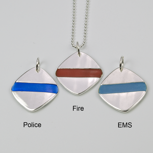 THIN BLUE LINE | SQUARE | LAW ENFORCEMENT - TevaJane