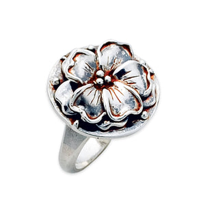 Flower Ring in Sterling Silver by TevaJane