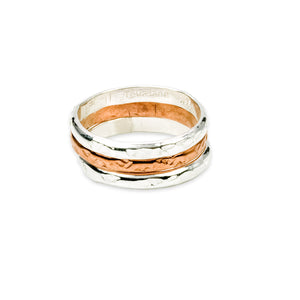Stacking Rings Copper and Sterling Silver