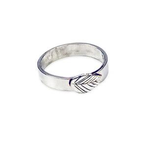 Leaf Band Sterling Silver