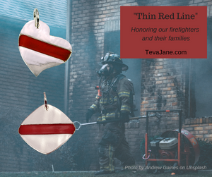 THIN RED LINE | SQUARE - FIREFIGHTERS - TevaJane