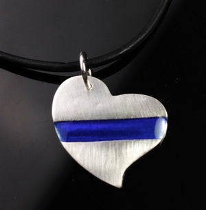 THIN BLUE LINE | HEART - LAW ENFORCEMENT - TevaJane