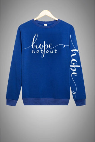 Hope Not-Out Signature Sweat Shirt Royal