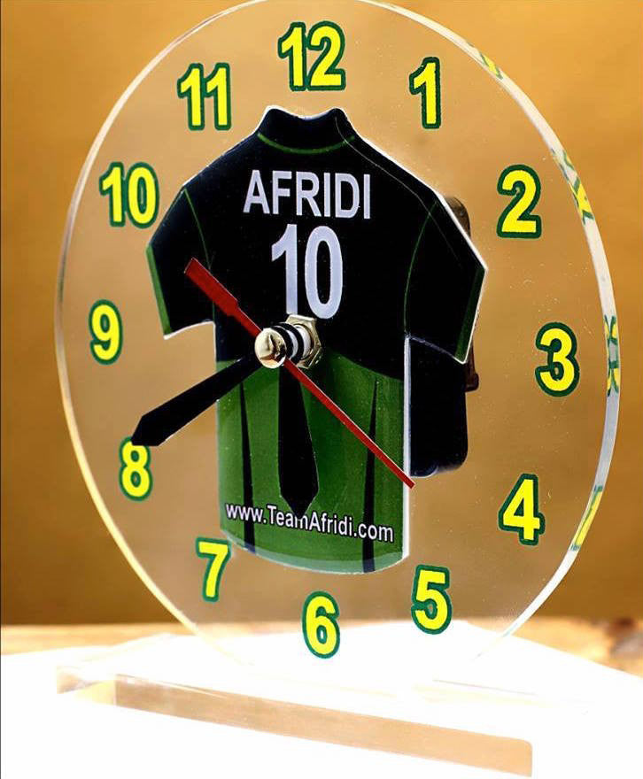 Shahid Afridi Table clock