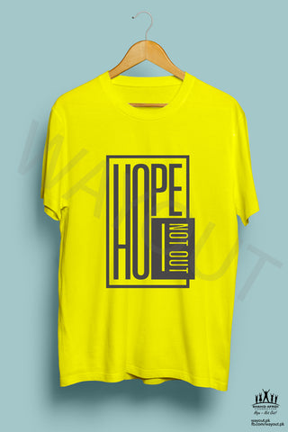 Hope Not-Out Phosphene Tee Shirt Yellow