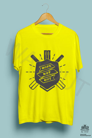 Hope Not-Out Shield Tee Shirt Yellow