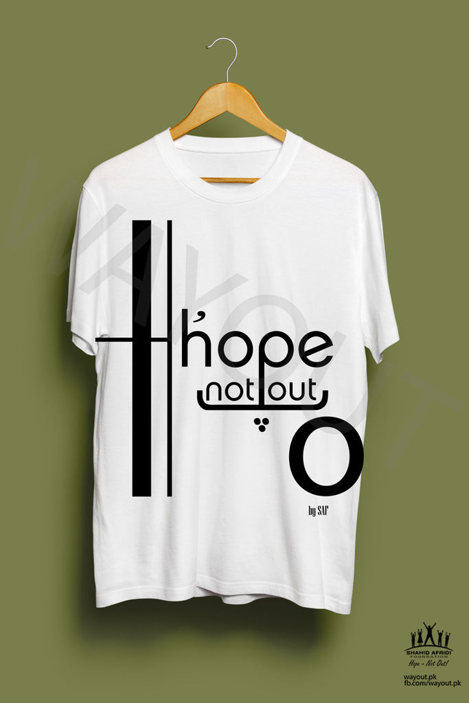 Hope Not-Out Jouska Tee Shirt White