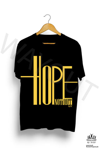 Hope Not-Out Ripple Tee Shirt Black
