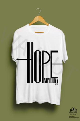 Hope Not-Out Ripple Tee Shirt White