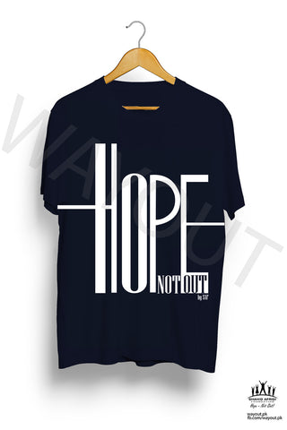 Hope Not-Out Ripple Tee Shirt Navy Blue