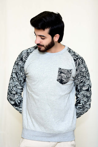 WayOut Cheetah Fleece Sweat Shirt Haider Gray