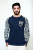 WayOut Cheetah Fleece Sweat Shirt Blue