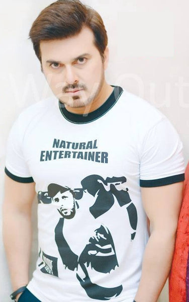 Natural Entertainer Shahid Afridi T-Shirt Green