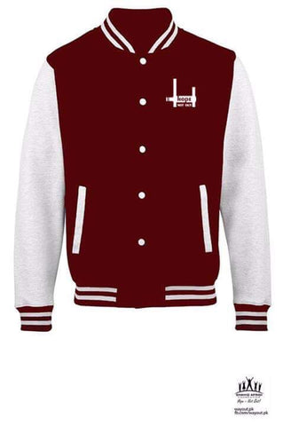 Hope Not-Out Baseball Jacket Maroon