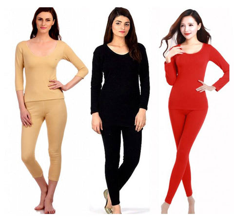 Imported women Thermal Warm Underwear Set