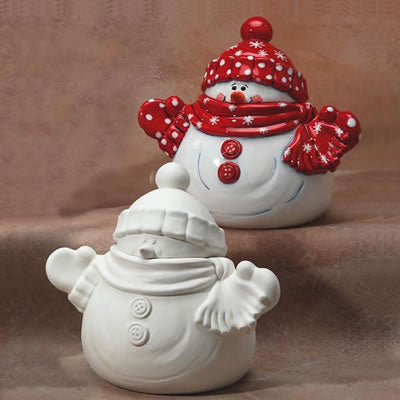 Snowman Cookie Jar - 2pc
