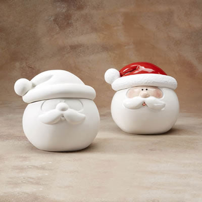Santa Cookie Jar - 2pc