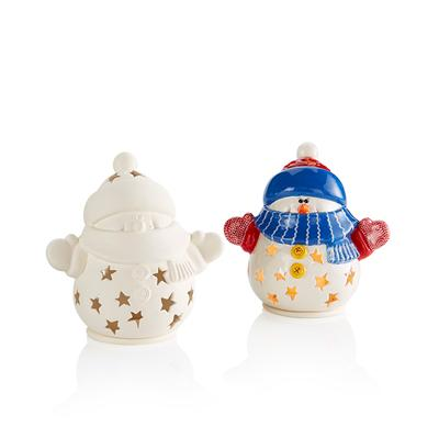 Snuggles the Snowman Lantern - 2 PC