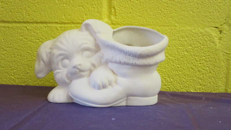 Puppy & Boot Pot