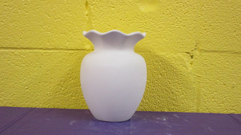 Ruffled Top Vase