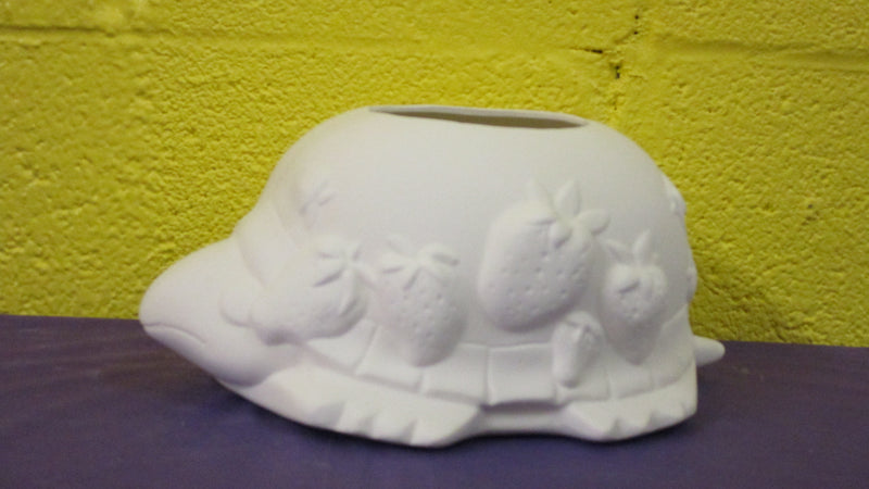 Turtle Planter w/Strawberries