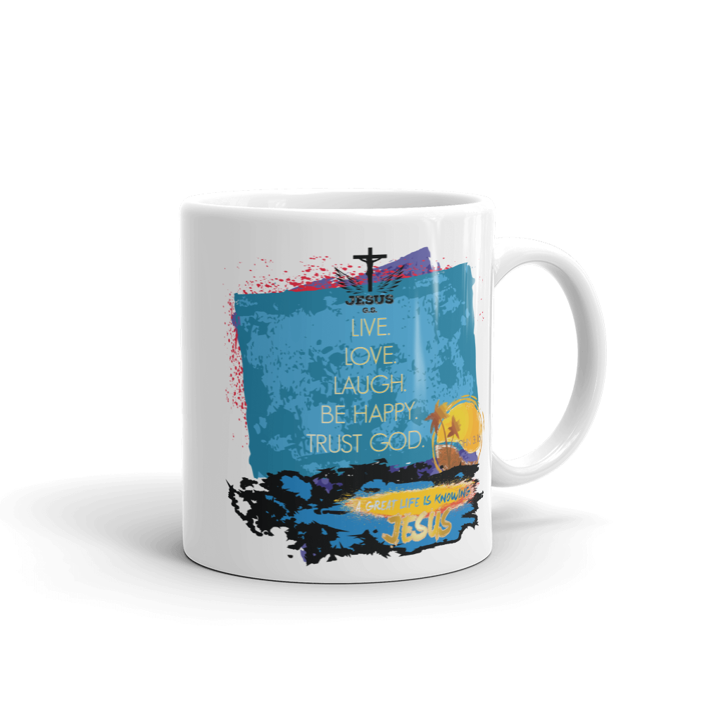 Live Love Laugh Mug - Jesus Gift Store