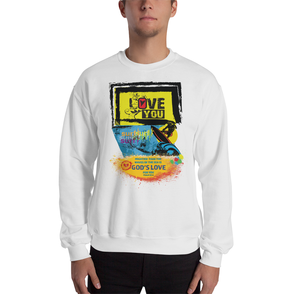 God's Surf (CREWNECK) - in 6 colors