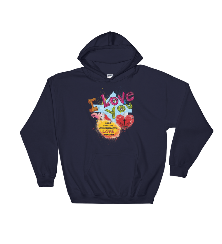 Love You (HOODIE SWEATSHIRT) - in 7 colors
