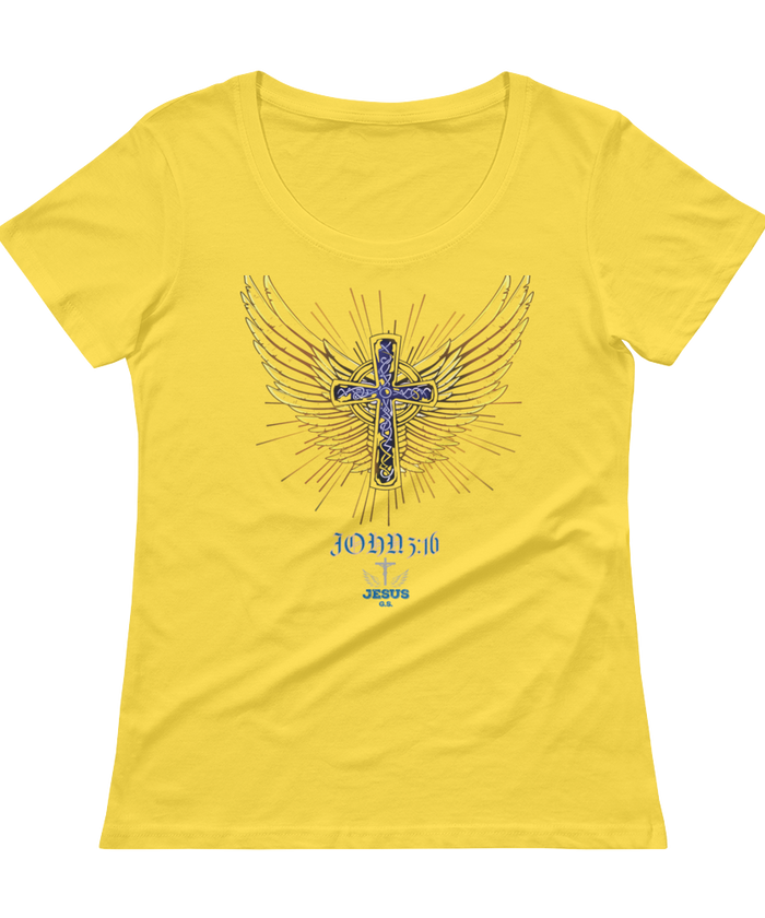 Angel Wings (SCOOP NECK) - in 5 colors - Jesus Gift Store