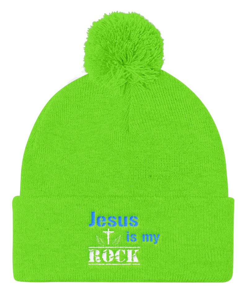 Jesus Is My Rock Cap (Neon Green)