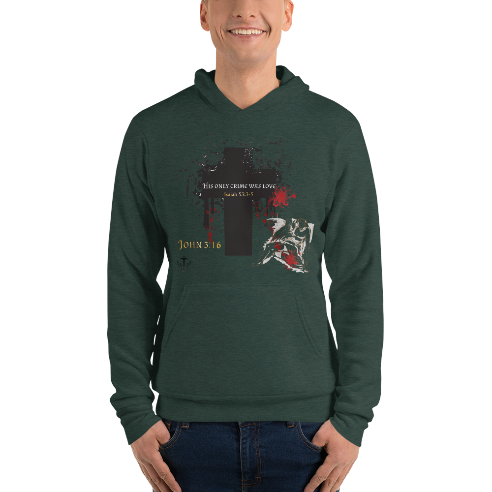 His Only Crime (FLEECE HOODIE) - in 4 colors