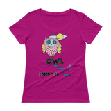 Owl You Need (SCOOP NECK) - in 4 colors