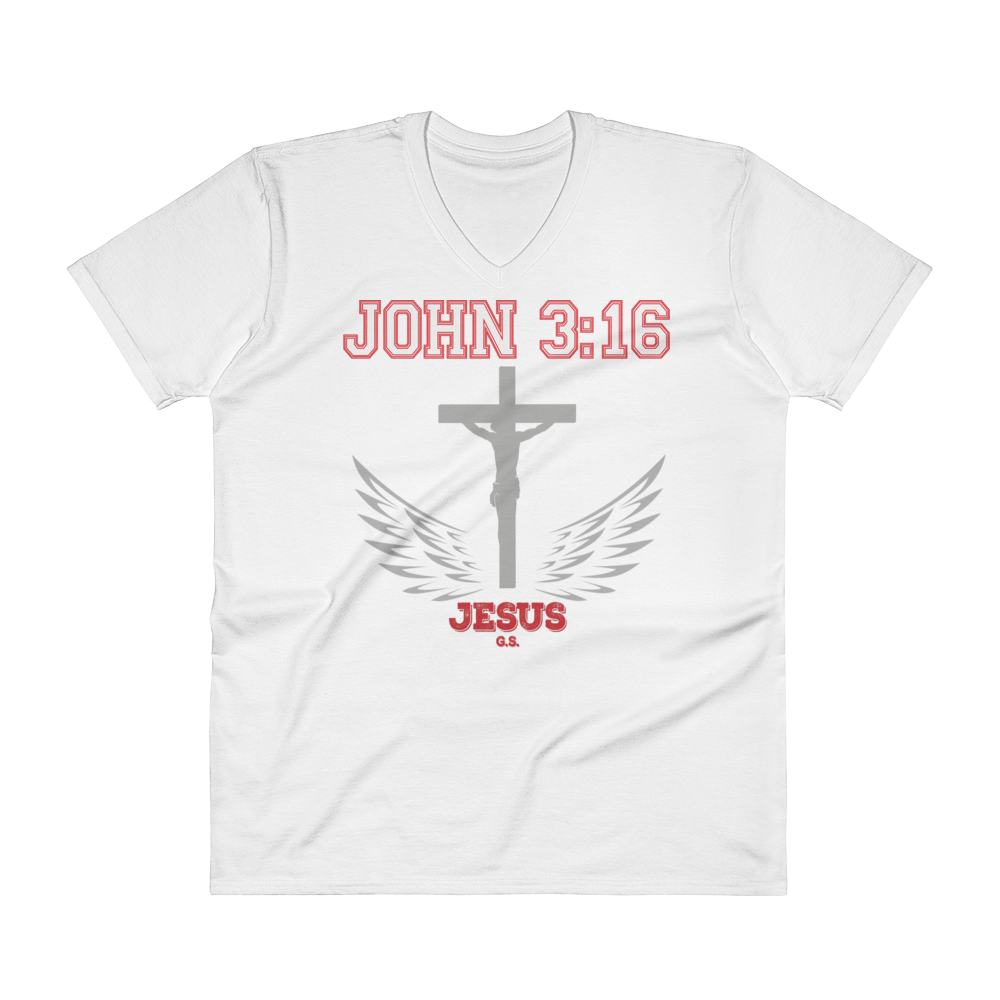 John 3:16 (V-NECK) - 5 colors - Jesus Gift Store
