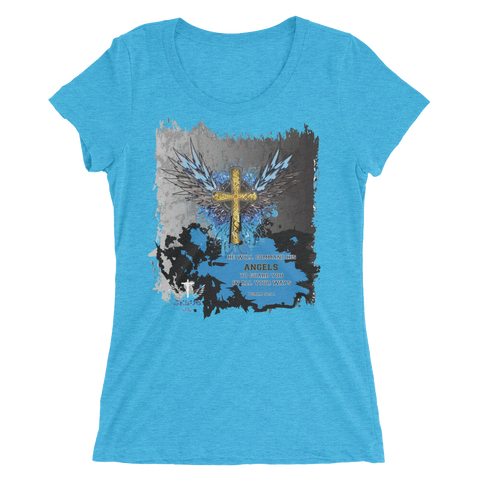 Angels Guard (WOMEN'S FITTED) - 15 colors - Jesus Gift Store