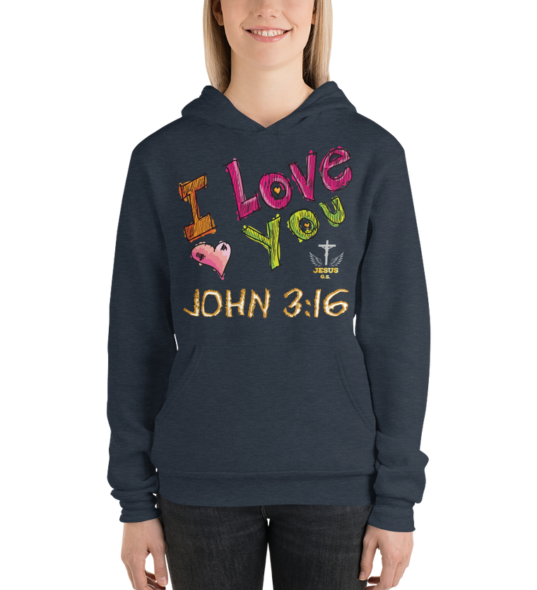 I Love You (FLEECE HOODIE) -  in 5 colors