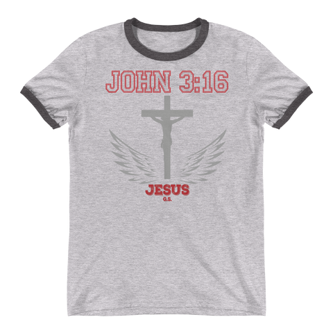 John 3:16 (Gray Cross)  - in 2 colors