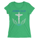 John 3:16 (WOMEN'S FITTED) - 13 colors - Jesus Gift Store