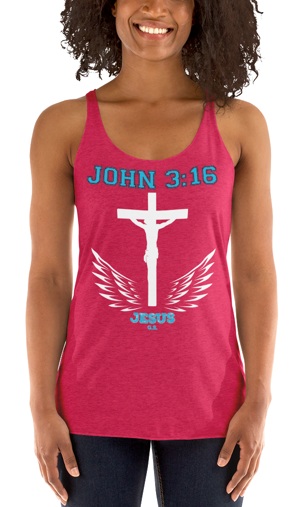 John 3:16 (RACERBACK TANK) - in 8 colors