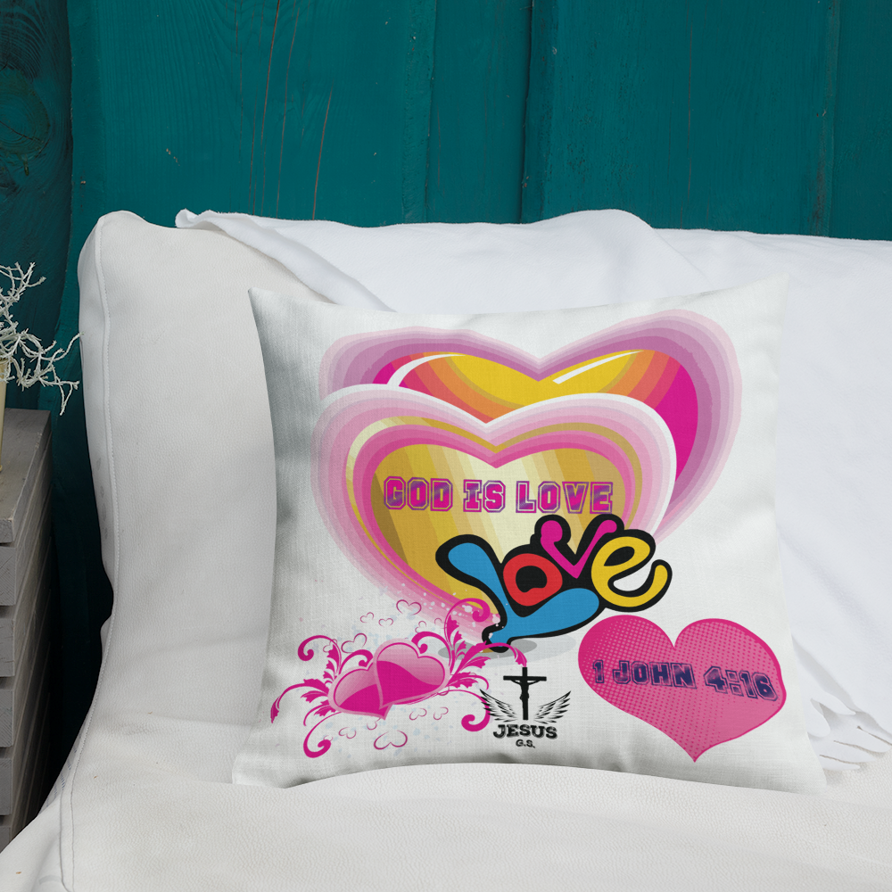 God Is Love Pillow - 18x18