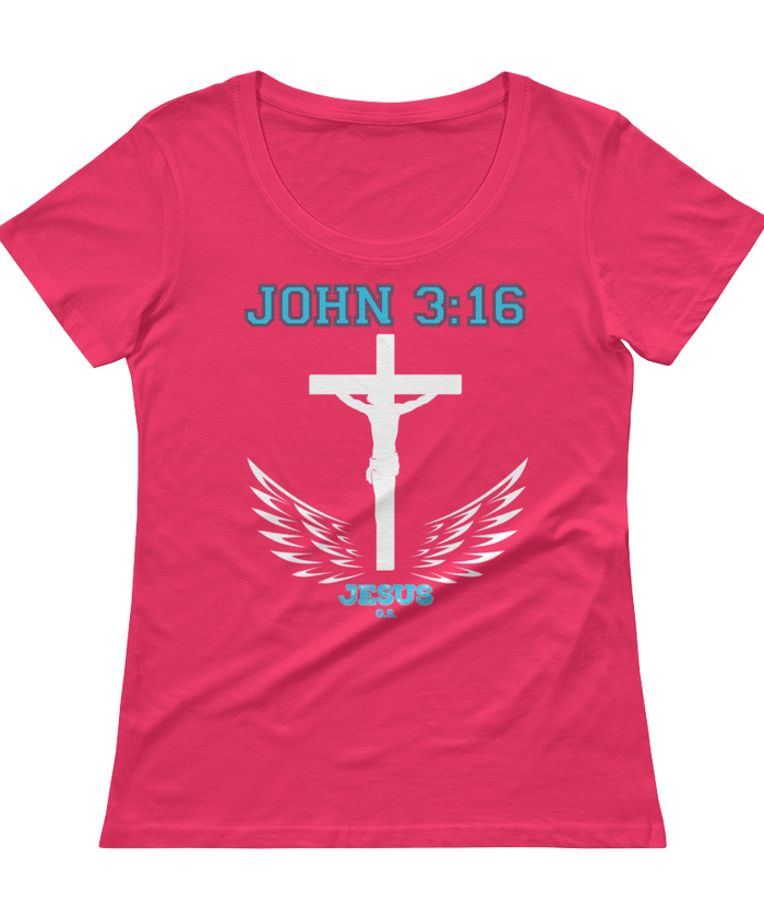 John 3:16 (SCOOP NECK) - in 8 colors - Jesus Gift Store