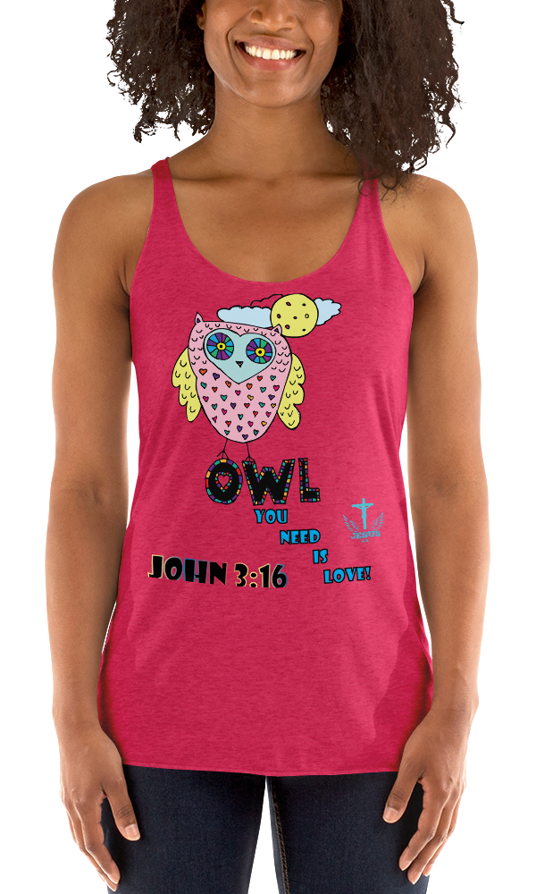 Owl You Need (RACERBACK TANK) - in 8 colors